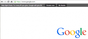 Google's slick new header for giving.