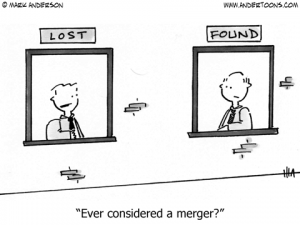Merger and Acquisition Cartoon