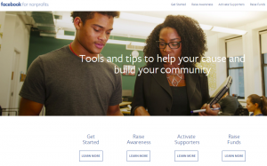 Facebook's Nonprofit Support Page